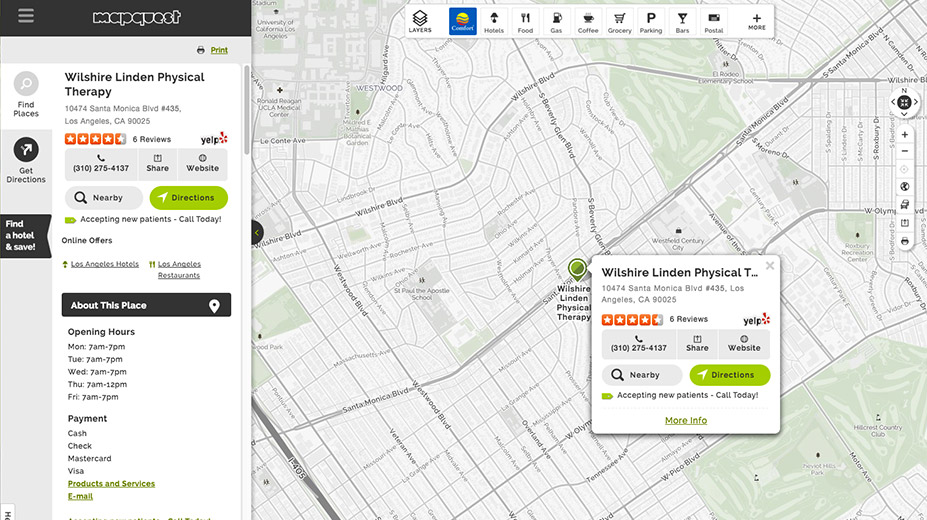Business Listings On Local Business Center Mapquest For Business