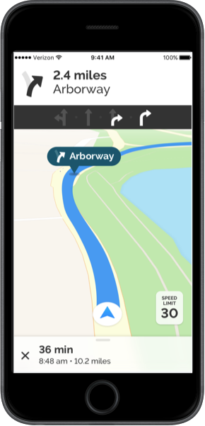 iPhone with Navigation SDK